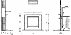 Мраморный портал для камина Hark 2/7 2 7 Ansicht - Камины HARK